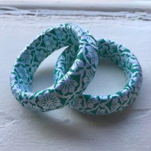 Fabric Wrapped Bangle Bracelet